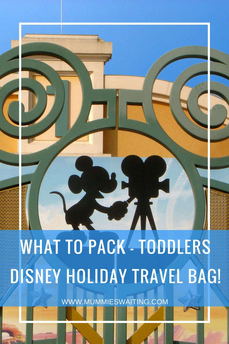 What to pack - Toddlers Disney Holiday Travel Bag!