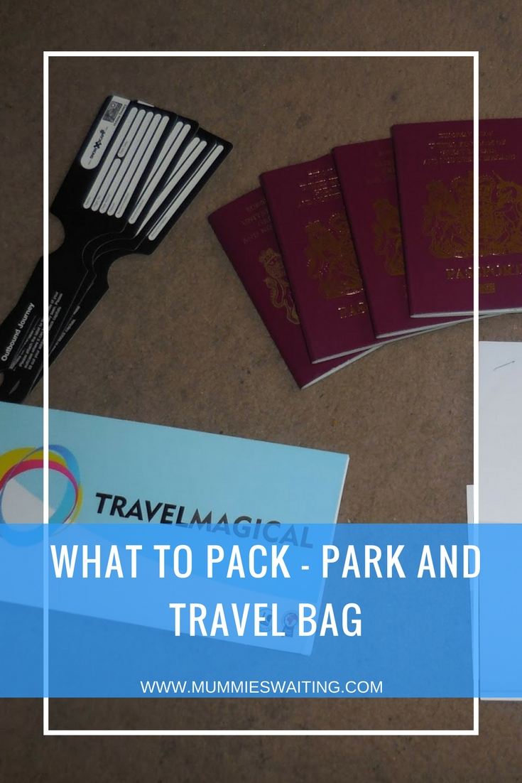 What to pack - Park and Travel Bag