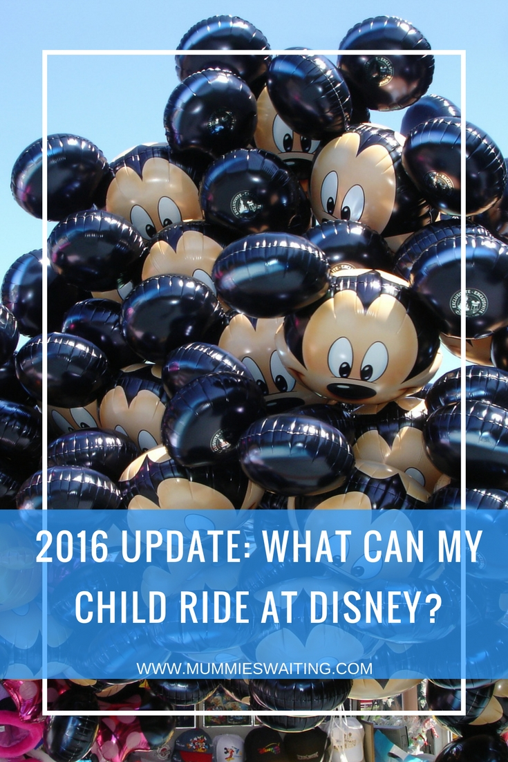 2016 Update: What can my child ride at Disney?