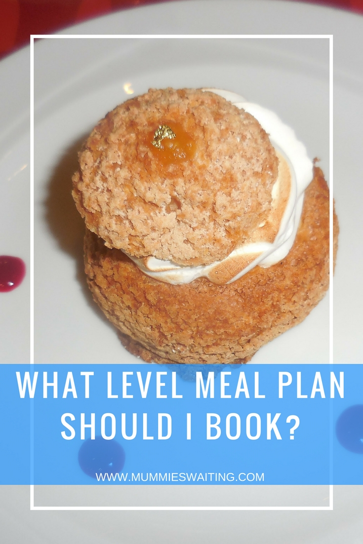 There are so many options when you are trying to choose what level of meal plan to book for Disneyland Paris (and also whether you should go full-board of half board). Some people will tell you it's too much food and others will tell you that you should never go premium. So what really is the best option for you and your family? Don't forget to check the tips at the bottom of this post to really get the best value from your plan. Breakfast As mentioned bellow, all meal plans give you access to 1 of 2 breakfasts (depending on whether you paid for your plan or if it was part of the deal), either a buffet with options including - a hot buffet, pastries, cold meats, cheese, fruit, yoghurt and juice or Counter service - where you can choose from pastries, a hot beverage and juice at selected restaurants in and around the parks. Half Board Disney's half board meal plan gives you access to breakfast as well as 1 other meal during the day. This meal can be used at any time (lunch or dinner). Half board works well before if you plan later lunches/earlier dinners, you can easily get by with just a snack in the middle of the day, saving you money and time eating too. Full Board Disney's full board meal plan gives you access to breakfast and 2 meals a day (lunch and dinner), meaning you're likely won't need to worry about taking any money for extra snacks (just drinks). The one downside to this is you will spend a lot of time eating and waiting to get into restaurants so be prepared to ride less. Standard A choice of over 5 buffets, this plan is great for families with little/younger ones. Buffets mean no ordering and waiting for your food to come, a wide range of choice for the whole family and your under 3's will get their own plate, so you don't have to worry about feeding them too. We recommend: Plaza Gardens, Restaurant des stars and Billy Bobs Plus Perfect for those who are looking for that extra little bit of magic and luxury, the plus meal plan gives you access to over 15 buffets and waiter service restaurants. With lots of wonderful choice including being pampered with a 3-course meal, this is great for families with older children or those who want a mix of buffets and sit-down meals. We recommend: Bistro Chez Remy, Blue Lagoon (Captain Jacks) and The Steak House Premium If you are looking to dine with the characters at every meal you possibly can, then this is the plan for you. Giving you access to all 20+ restaurants, the Premium plan gets you up close and personal with some of Disney's most popular characters. SO whether you are looking to brunch with Pluto or dine with Cinderella, you're sure to have a blast. Note: Unless you are planning to have a character meal every meal, this plan unlikely works out to save you money. We recommend: Walts and Plaza Gardens Character Breakfast Top Tips! If you are looking to do a character meal but you don't want to pay for the top plan (or maybe you want to eat at all buffets except from 1 night) then fear not! Grab the level that best suits you and use your vouchers as 'cash' when you get there, topping up the extra money. This way you still have a meal plan and can save money too. Restaurant reservations open 60 day in advance of your trip, so get booking asap. Things like character dining, will book up very fast! Got a voucher left over because someone didn't use one? You can use it to grab a counter service meal, you'll lose money of the voucher, but losing €5 is better than €20! At each restaurant there is a set meal plan for your vouchers (you can also find these online) just ignore the text at the top because a non-alcoholic drink is included with each meal. You will get 1 or 2  voucher(s) for each night of your stay (not day) so a 4 night/5 day still will give you 4 dinner vouchers on half board and 8 on full board. Under 3's eat free at Disneyland Paris, but beware by eating free, they mean eating off your plate, to get around this, head to the buffets where as its all you can eat, they are entitled to their own plate?
