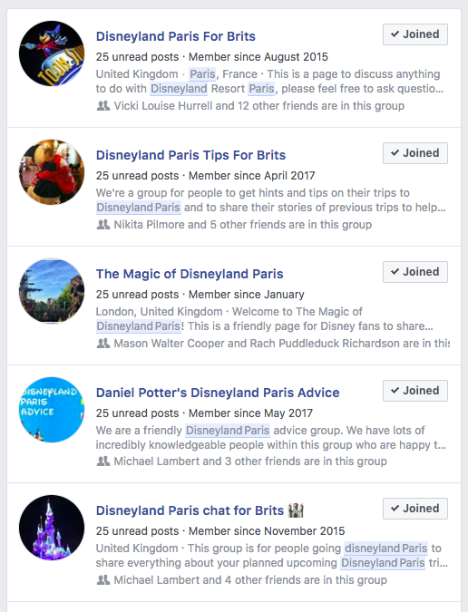 Disneyland Paris Groups
