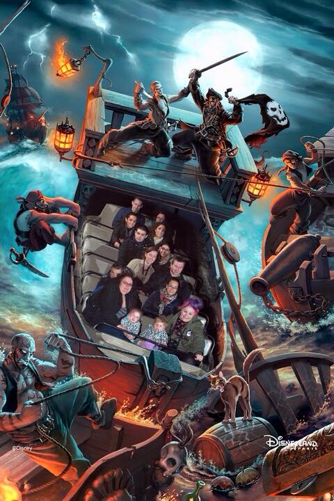 Disneyland Paris Pirates of the Caribbean Ride Photopass+