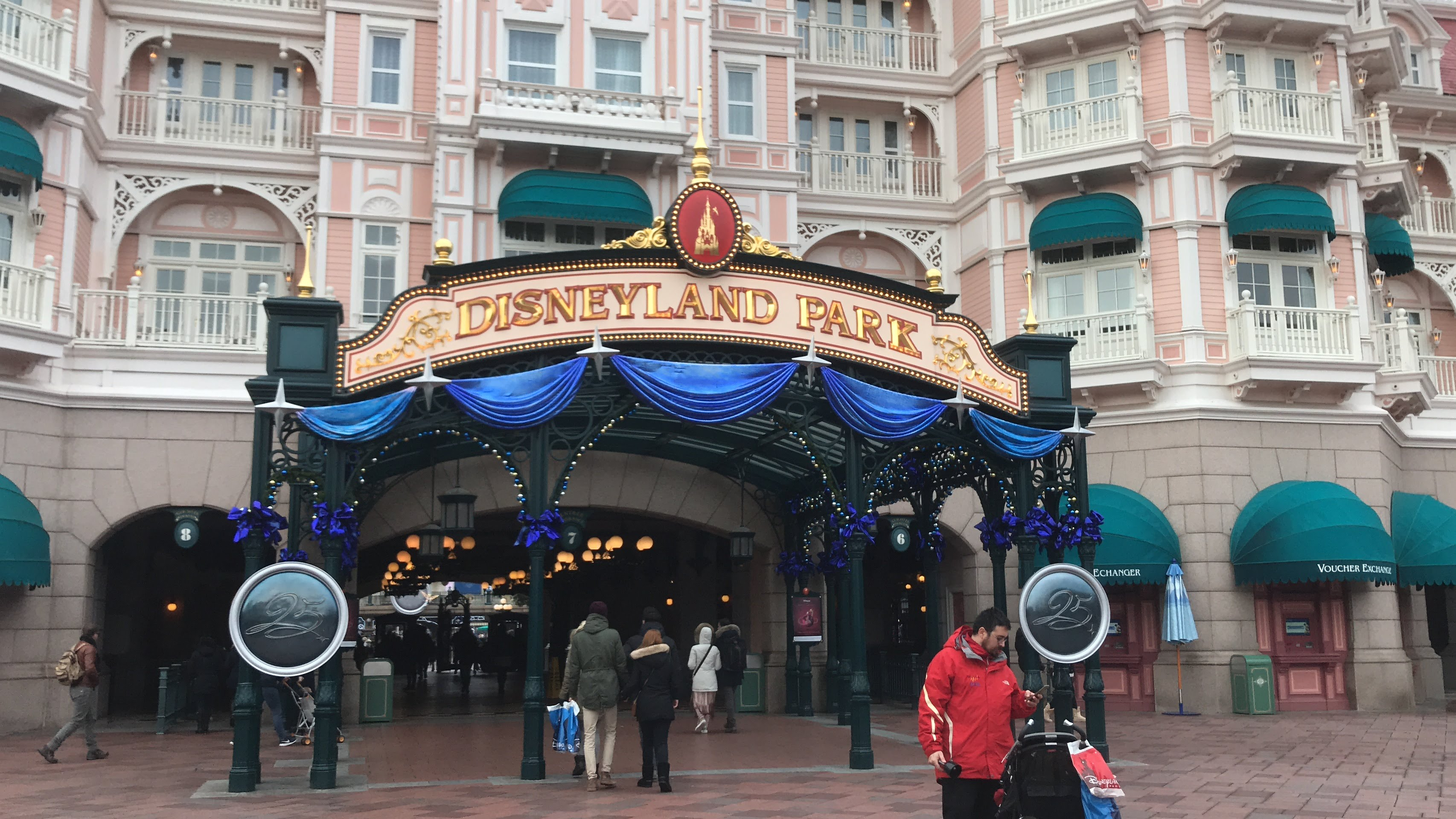 The entrance to Disneyland Paris