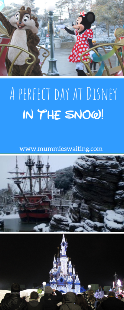A perfect day at Disney in the snow