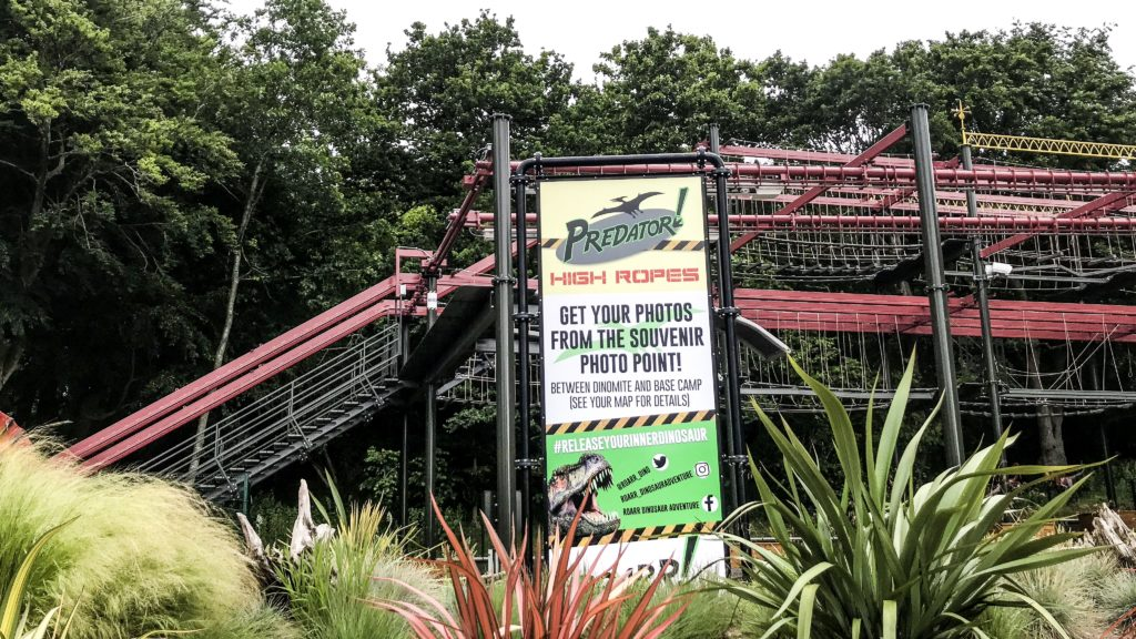 Predator High Ropes at Roarr Dinosaur Adventure