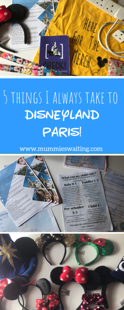 5 things I always take Disneyland Paris!