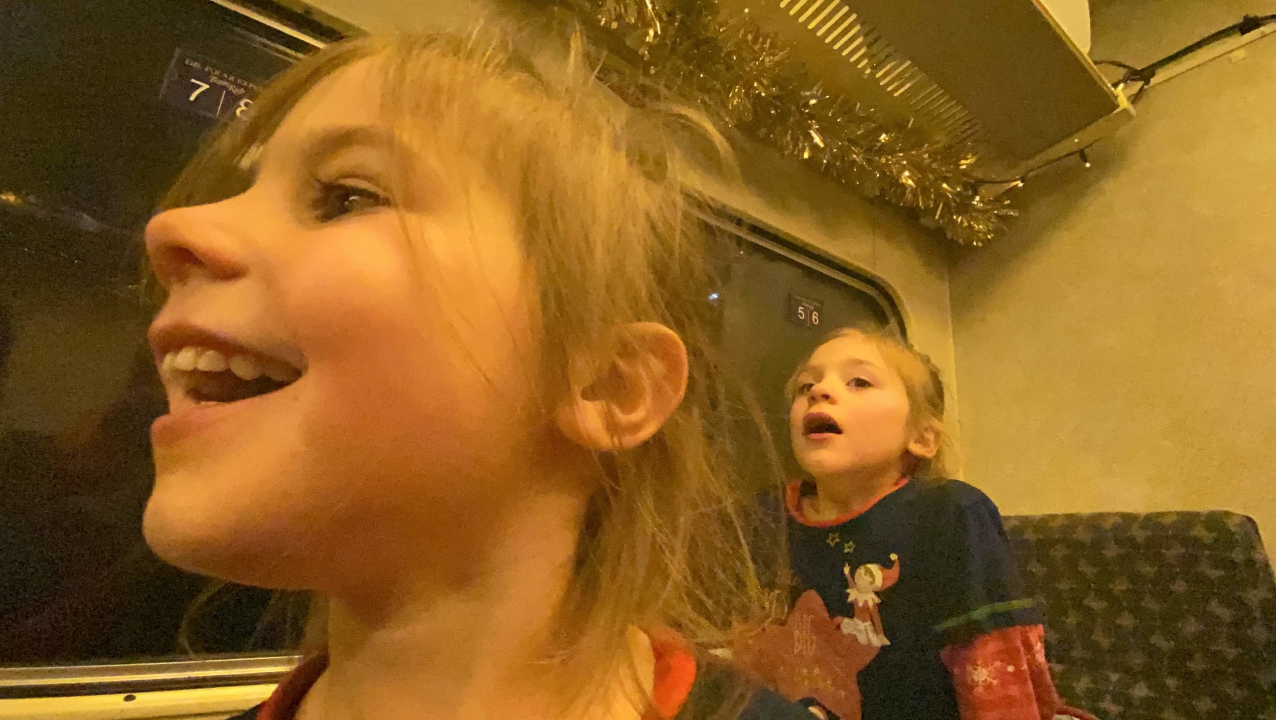 The excitement on The Polar Express